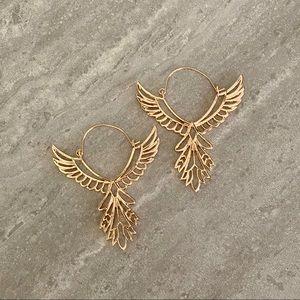 Free people freebird earrings in rose gold